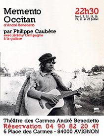 Spectacle Momento Occitan par Philippe Caubère.