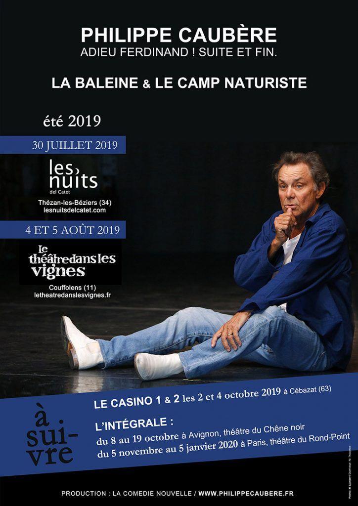 Dates Estival des spectacles de Philippe Caubère.
