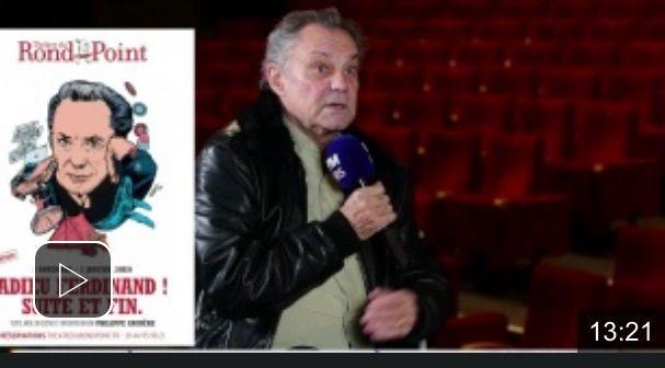 Émissions BFM TV Scènes sur Seine avec Philippe Caubère.